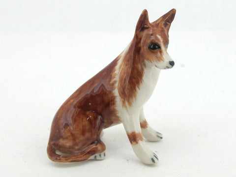 Dollhouse Miniatures Collectible Ceramic Collie Dog FIGURINE Animals