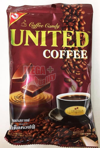 UNITED COFFEE Hard Candy Halal Thailand real roasted Arabica caffeine 125g.