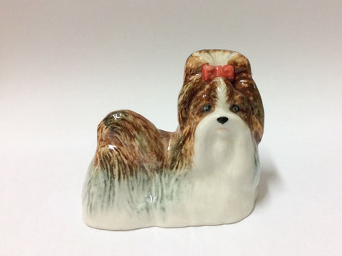Handmade Miniature Ceramic Shihtzu Dog Breed FIGURINE Animal 2