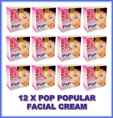 12 X POP POPULAR FACIAL CREAM WHITENING TREATING BLEMISHES ACNE FRECKLE PIMPLE