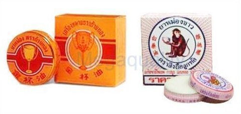 Lot different Thai Golden Cup Balm + Monkey Holding peach White Balm