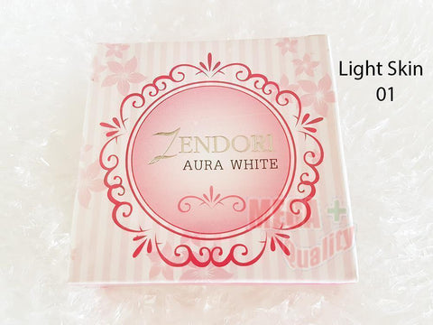 ZENDORI AURA WHITE Face Powder Cover up Blemishes and Brightening 01 Light Skin