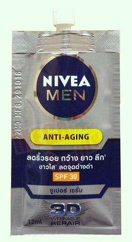 NIVEA MEN 3D ANTI-AGING Q10 SUPER SERUM SPF 30 WRINKLE REPAIR DARK SPOT 12ml.