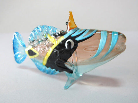 Underwater Handicraft MINIATURE HAND BLOWN GLASS Fish FIGURINE Collection # 85