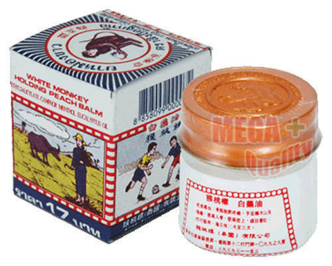 12 g. Thailand Thai White Monkey Holding Peach medicated Balm Muscle pain relief