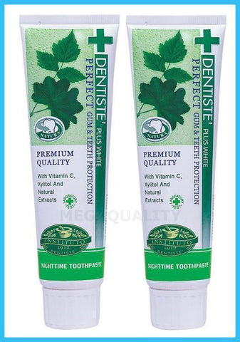 2x100 g. Dentiste plus white vitamin c and xyitol gum toothpaste