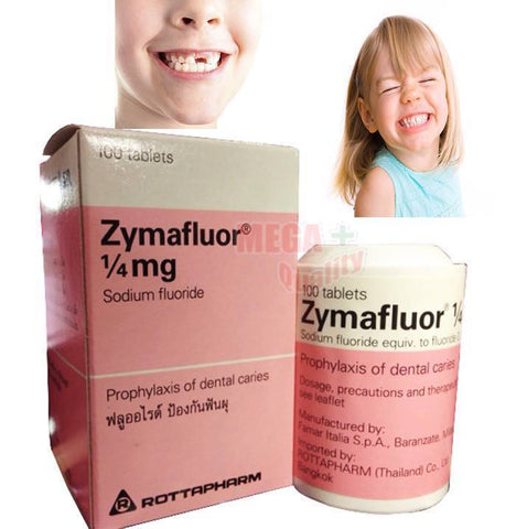 Zymafluor Fluoride Protect Children s Teeth from Decay Dental Caries 100 Tablets