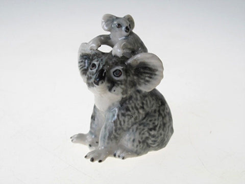 Porcelain Miniatures Collectible Ceramic Koala with Baby FIGURINE Animal