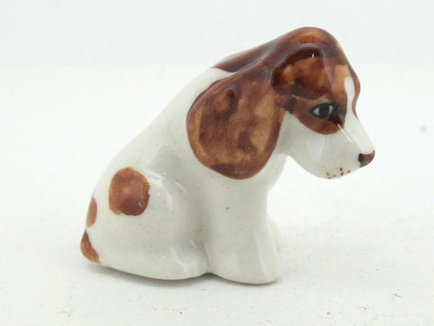 Dollhouse Miniatures Collectible Porcelain Ceramic Cocker Spaniel Dog FIGURINE