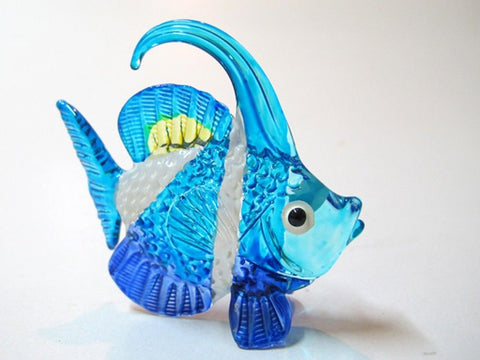 Aquarium MINIATURE HAND BLOWN Art GLASS Fish FIGURINE Collection # 38