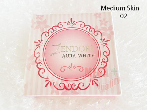 ZENDORI AURA WHITE Face Powder Cover up Blemishes and Brightening 02 Medium Skin