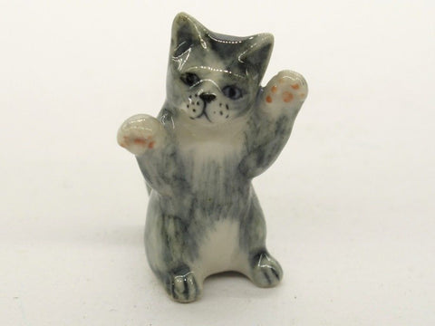 Porcelain Miniatures Collectible Ceramic Siamese Cat FIGURINE Animals