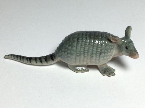 Craft Miniature Collectible Porcelain Ceramic Armadillo Figurine Animal Zoo