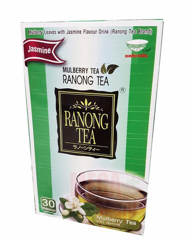 Ranong Tea MULBERRY TEA with Jasmine Herbal High Anti-Oxidant Healthy 30 Teabags