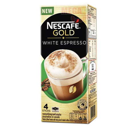 NESCAFE GOLD WHITE ESPRESSO Premix Coffee Finely Ground Roasted Coffee 4 sticks