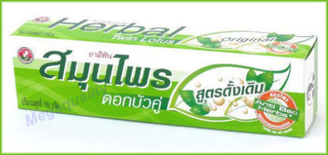 150g. Twin Lotus Original Herbal Toothpaste Natural Herbs Clean Your Teeth + Gum