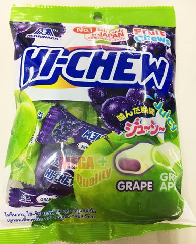 100g. Morinaga Hi-chew Soft Chewy Candy Grape and Green Apple Fruit Chews