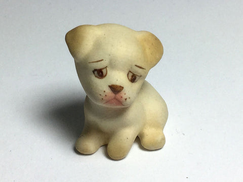 Dollhouse Miniatures Collectible Porcelain Lonely Boxer Dog FIGURINE