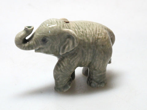 Porcelain Miniature Collectible Ceramic Siam ELEPHANT Figurine Incense Holder