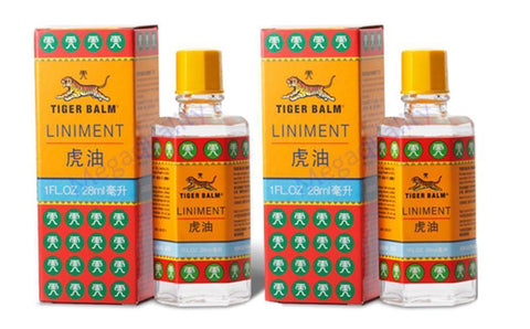 2 x 28ml Tiger Balm Liniment Oil Herbal Pain Relief Original Massage Arthritis