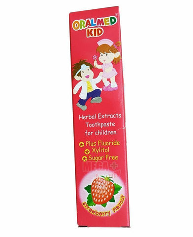 Oralmed Kid STRAWBERRY Flavor Children Toothpaste with Fluoride Xylitol 40g