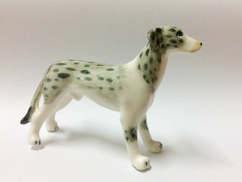 Mini Collectible Ceramic Standing Lurcher Dog Breed FIGURINE Hand painted