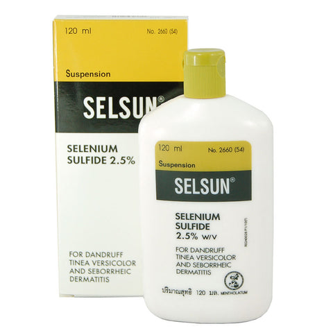 120ml SELSUN ANTI DANDRUFF SHAMPOO TREATMENT SELENIUM SULFIDE TINEA VERSICOLOR