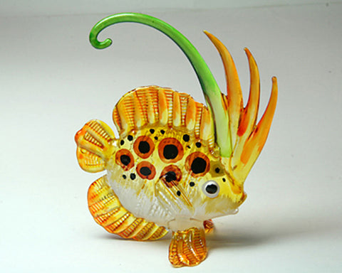 Aquarium Handcrafted MINIATURE HAND BLOWN GLASS Fish FIGURINE Collection # 133