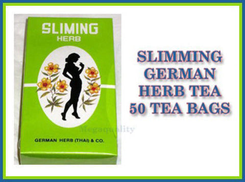 SLIMMING GERMAN HERB SLIMING TEA BURN DIET SLIM FIT FAST DETOX LAXATIVE 50 BAGS
