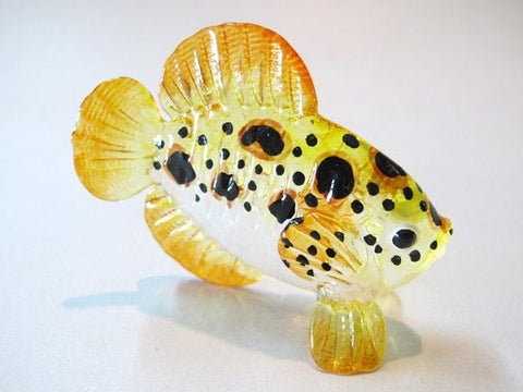 Aquarium handicraft MINIATURE HAND BLOWN GLASS Fish FIGURINE # 62