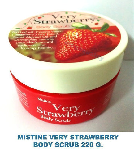 MISTINE VERY STRAWBERRY WHITENING LIGHTENING EXFOLIATING BODY SCRUB 220 G.