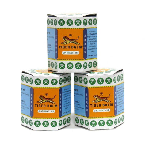 3 x 30 g. TIGER BALM WHITE Herbal Ointment Massage Relief Muscle Pain Health