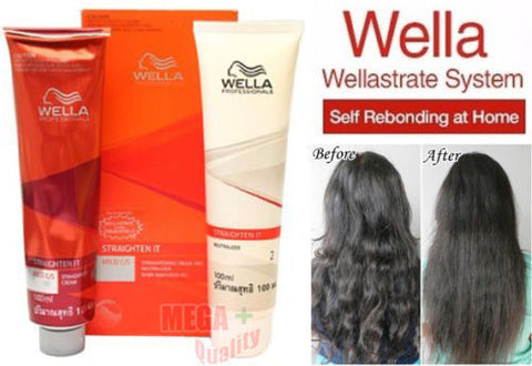 WELLA WELLASTRATE Permanent Straight System Hair Straightening Cream # MILD
