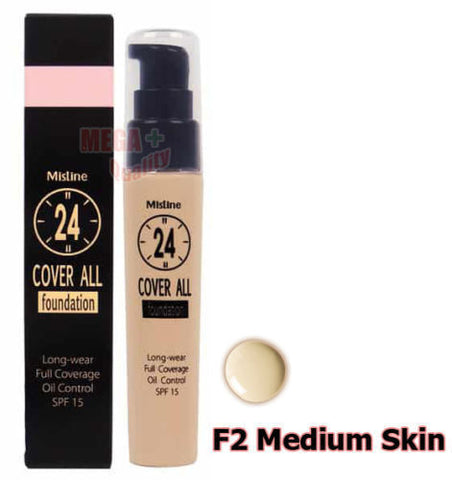 Mistine 24 Cover All Foundation Full Coverage Oil Control SPF 15 # Medium Skin