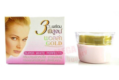 Polla GOLD Whitening Cream SUPER WHITE PERFECT Face Kojic Acid Anti Melasma 10g