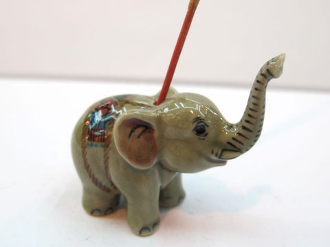 Handicraft Porcelain Miniature Collectible Ceramic ELEPHANT Figurine Wild Animal