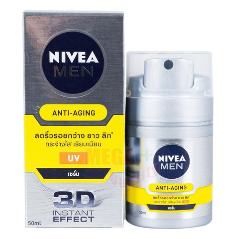 Nivea Men ANTI-AGING Q10 Face Serum UV 3D Anti-Wrinkle Effect Healthy Skin 50ml