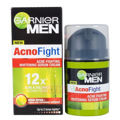 Garnier Men Acno Fight Dullness Fighting Power Whitening Face Serum Cream 40ml