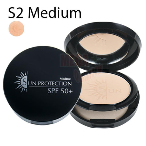 Mistine SUN PROTECTION Powder SPF50+ UVA UVB Makeup Powder # S2 For Medium Skin