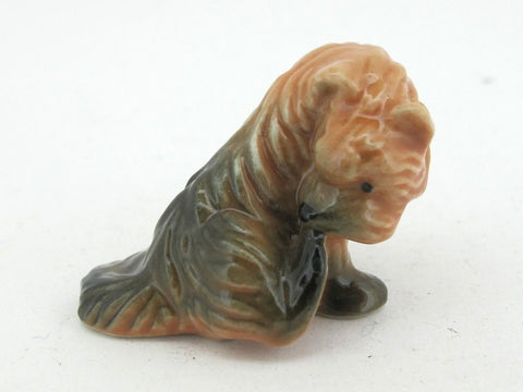 Handpainted Miniatures Collectible Ceramic Berger Dog FIGURINE Animals