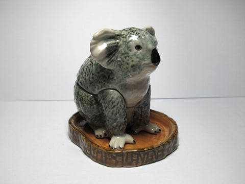 Handicraft Miniature Collectible Porcelain Koala Salt and Pepper S&P