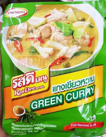 Ajinomoto RosDee Menu Green Curry Powder Instant Cooking Thai Food 55g