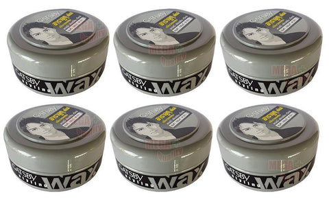 6 x 75g. GATSBY Mat and Hard Hair Styling Wax From JAPAN Style Smart Naturally