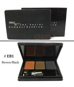 Mistine Eye Brows Secret Compact Eyebrow 3in1 Tone #EB1 Brown-Black Clolor 1.7g