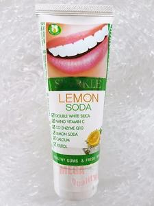 60g. Sparkle White Toothpaste Lemon Soda Healthy Gums and Freshen Breath