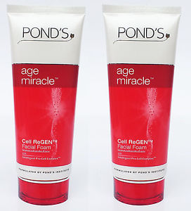 2 x POND s Age miracle Cell Regen Daily Regenerating Facial Foam 100 g.