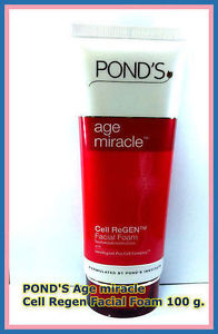 POND s Age miracle Cell Regen Daily Regenerating Facial Face Foam 100 g.