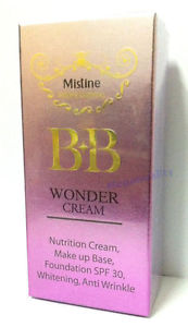 7.5 g. Mistine Bb Wonder Cream Whitening Anti Wrinkle Foundation Base SPF 30