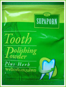 SUPAPORN TOOTH POWDER TOOTHPASTE POLISHING PLUS HERB FRESH HEALTHY TEETH