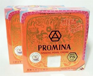 2 x PROMINA GINSENG PURE PEARL FACE CREAM REMOVAL FRECKLE & ACNE DARK SPOT WHITE